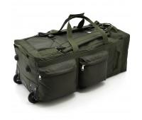 Баул-рюкзак на колесах DK 100л олива